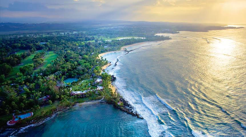 View of the Dorado Beach, a Ritz-Carlton Reserve, located in the north coast of Puerto Rico.