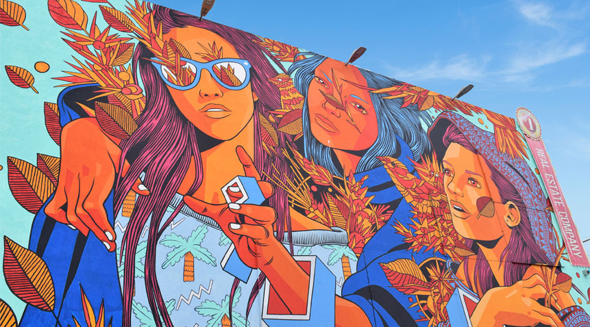 So make sure to include in your sightseeing checklist the colorful urban street murals in San Juan.