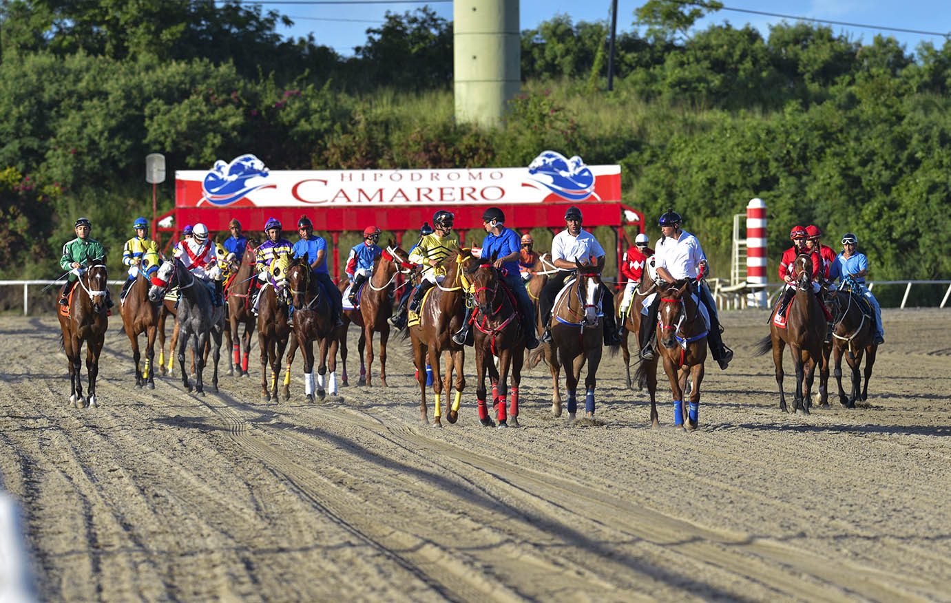 Race days at Camarero racetrack are Thursday, Friday, Saturday, and Sunday with post time at 2:50 p.m.