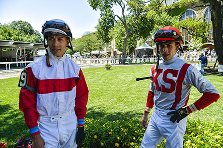 Brothers Irad Ortiz, on left, and Jose Luis Ortiz have been ranked among the top five jockeys in the U.S. mainland in overall earnings.