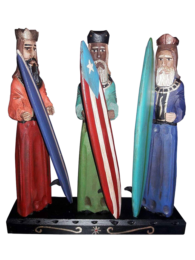 Santeros tend to stick to a single figure but when they resort to a group scene it is usually to portray The Nativity or The Three Kings.