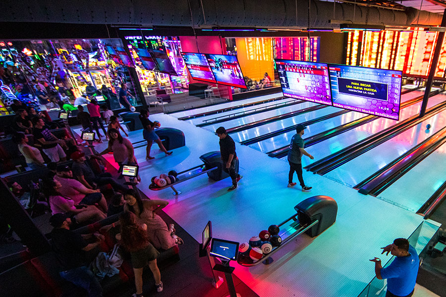 Bowling at Sector Sixty6 is the most modern and futuristic glow in the dark bowling alley.