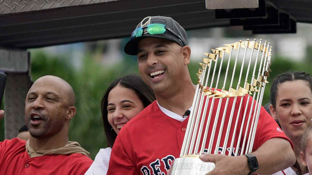 Alex Cora won World Series title as Red Sox Manager.