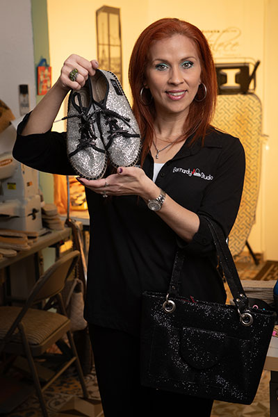 Designer Monica Bernardy's goal is to produce accessories to educate her students