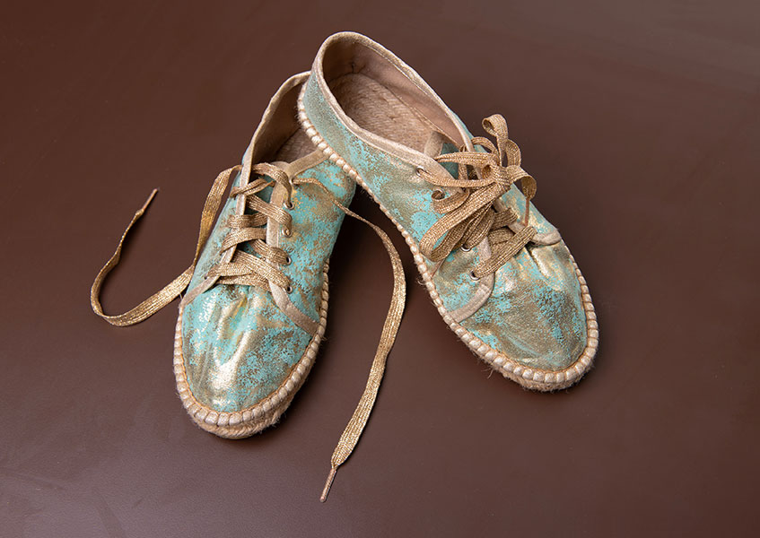 Espadrilles are easily identified by their ropy soles.
