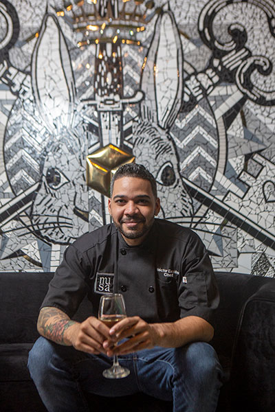 Chef Hector Escobar's Musa restaurant changes its menu and decor every three months.