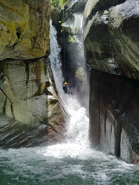 Canyoning offers big thrills in Puerto Rico's lush highlands