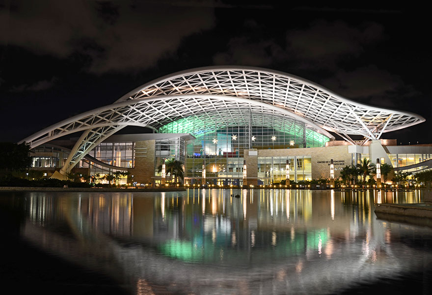 The Puerto Rico Convention Center is the largest and most technologically advanced in the Caribbean.