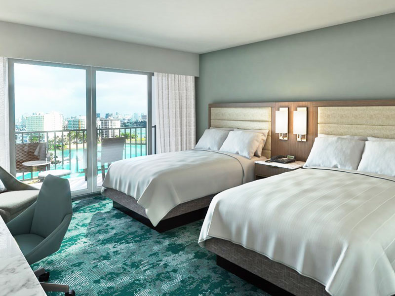 Caribe Hilton showcases contemporary guest rooms and suites.